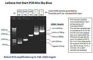 LeGene Hot Start PCR Mix Sky Blue (up to 4 kb)