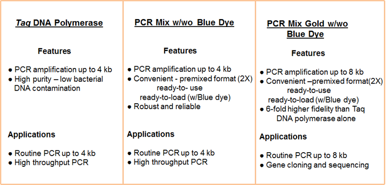 Selection Choice for Routine PCR
